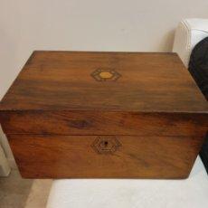 Antigüedades: PRECIOSO ESCRITORIO DE BARCO CAOBA. Lote 182557003