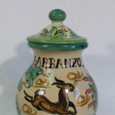 Antigüedades: TARRO ORZA GARBANZOS EN CERAMICA PUENTE DEL ARZOBISPO. Lote 182557323