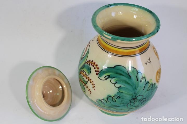 Antigüedades: tarro orza pasta en ceramica puente del arzobispo - Foto 4 - 182557548