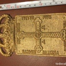 Antigüedades: PLACA FUNDIDA. Lote 182561477