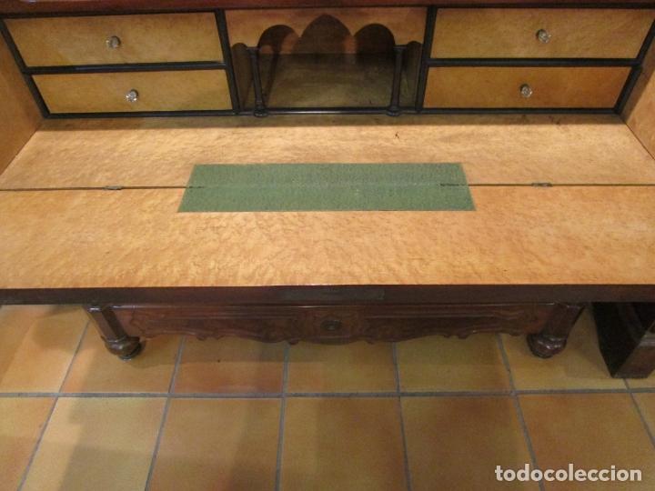 Antigüedades: Cómoda Escritorio Isabelina (Ditada) - Madera de Caoba - Escritorio en Limoncillo - S. XIX - Foto 3 - 182563771