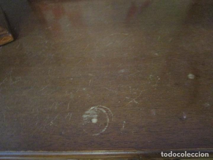 Antigüedades: Cómoda Escritorio Isabelina (Ditada) - Madera de Caoba - Escritorio en Limoncillo - S. XIX - Foto 22 - 182563771