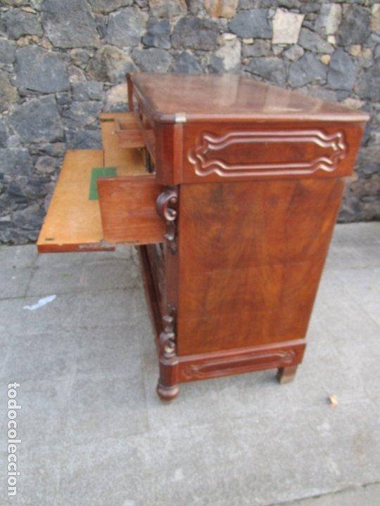 Antigüedades: Cómoda Escritorio Isabelina (Ditada) - Madera de Caoba - Escritorio en Limoncillo - S. XIX - Foto 23 - 182563771