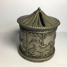 Antigüedades: ANTIGUA HUCHA TIOVIVO DE FERIA SILVER PLATED MADE IN HONG KONG. Lote 182566870