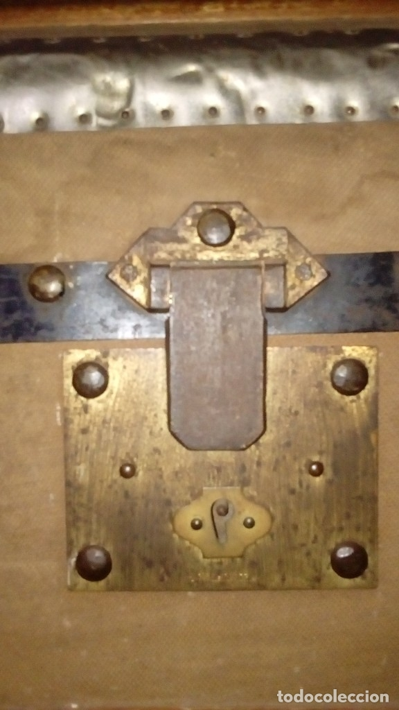 Antigüedades: Baúl de viaje de 1.896. Gran capacidad. - Foto 7 - 182575833