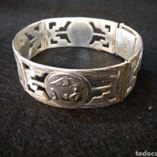 Antigüedades: BONITA PULSERA DE PLATA, SELLO JOYMEX MEXICO. Lote 182579397