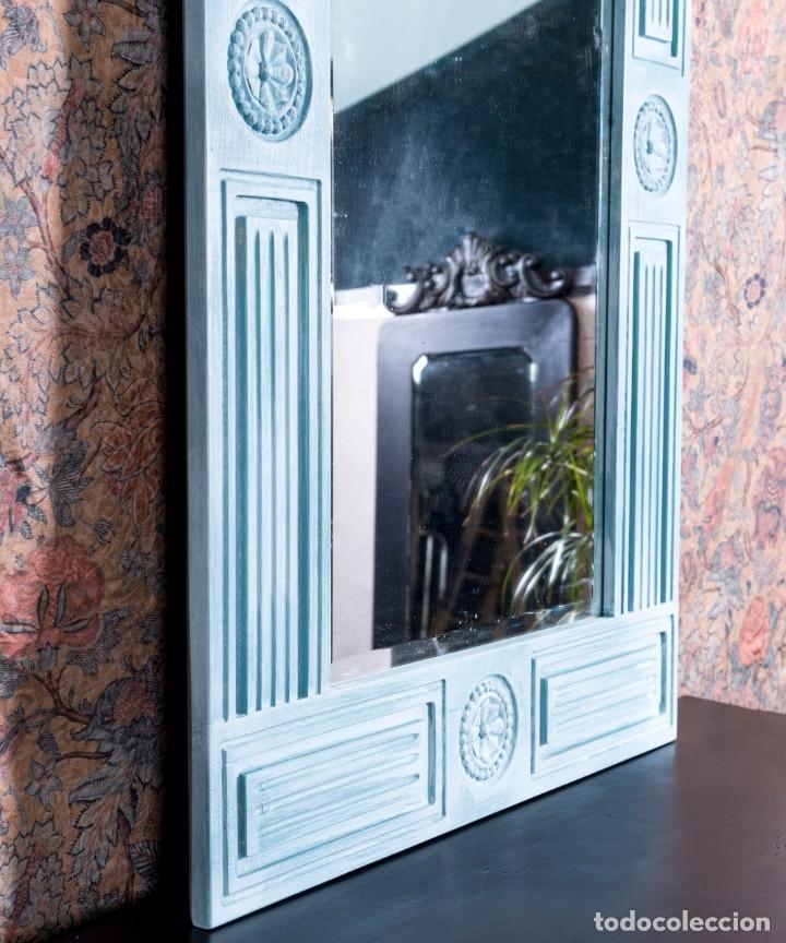 Antigüedades: Espejo Antiguo Restaurado Fred - Foto 2 - 182582987
