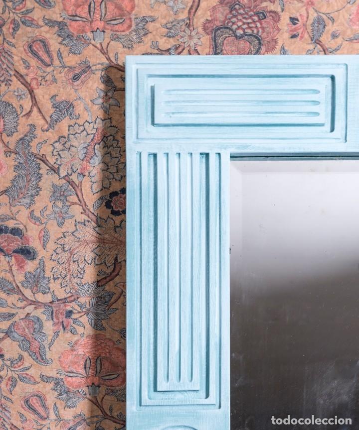 Antigüedades: Espejo Antiguo Restaurado Fred - Foto 3 - 182582987