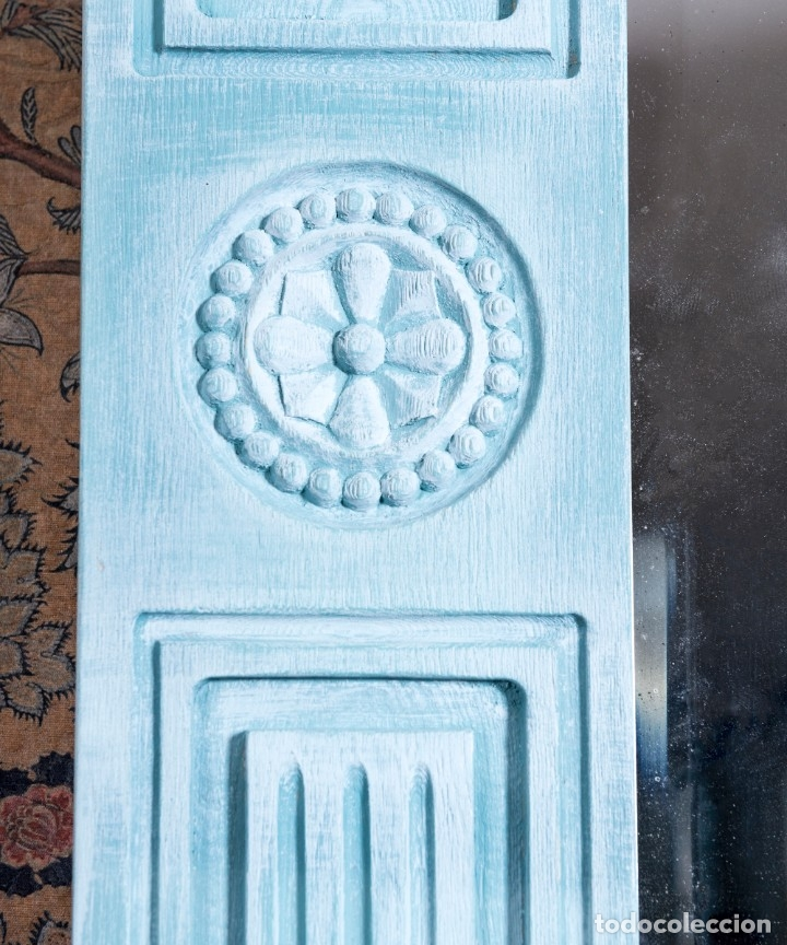 Antigüedades: Espejo Antiguo Restaurado Fred - Foto 4 - 182582987