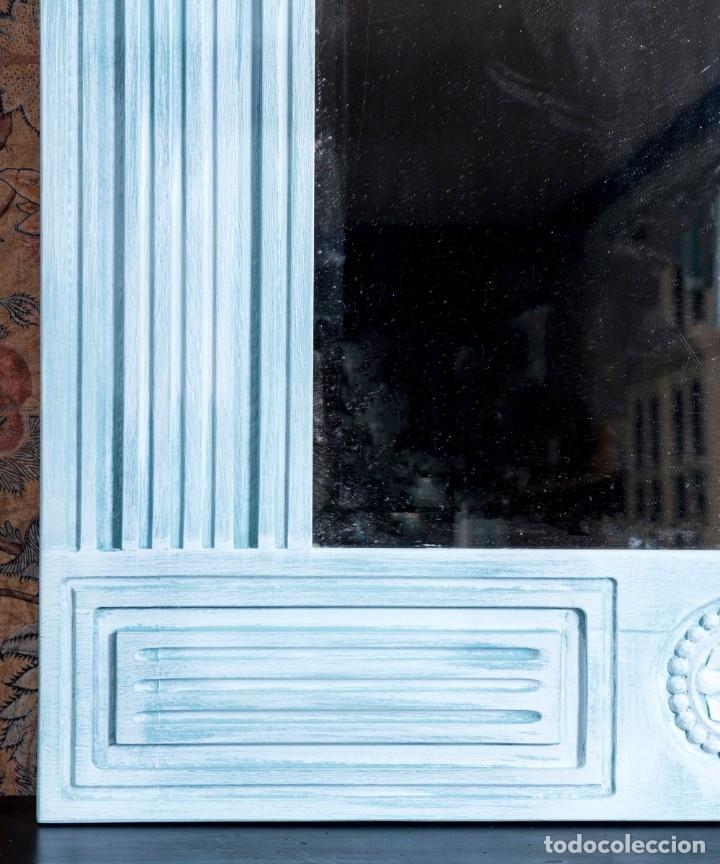 Antigüedades: Espejo Antiguo Restaurado Fred - Foto 5 - 182582987