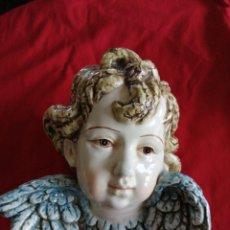 Antigüedades: CABEZA DE ANGELOTE. MARCA CERÁMICA DE TALAVERA DE LA REINA. TOLEDO. Lote 182583420