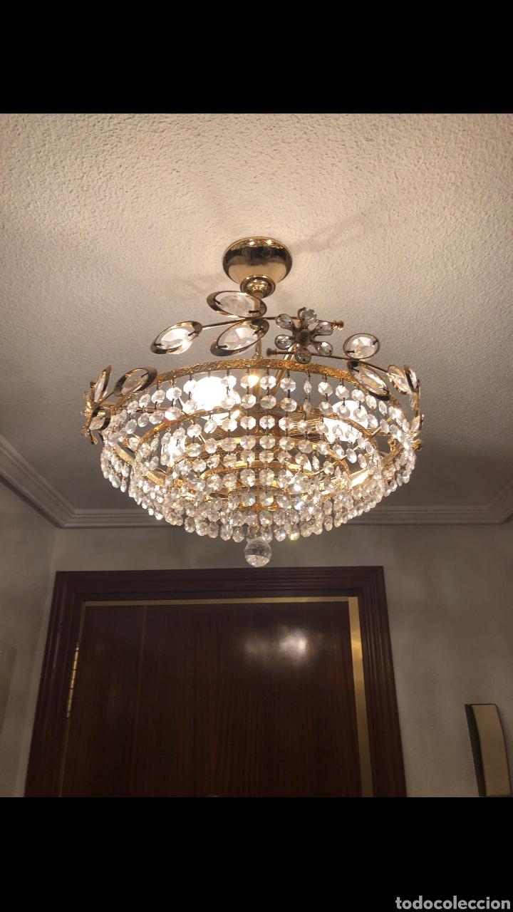 LAMPARA TECHO CRISTAL ROCA (Antigüedades - Iluminación - Lámparas Antiguas)