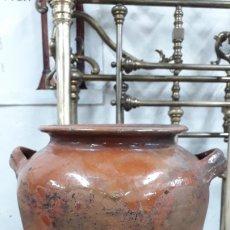 Antigüedades: OLLA VIDRIADA BUEN ESTADO. Lote 182609110
