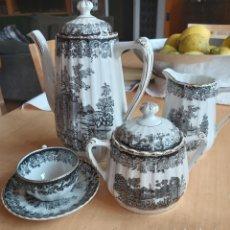 Antiguidades: JUEGO CAFÉ O TÉ PARA 10 OLD ENGLAND SANTA CLARA. Lote 182614218
