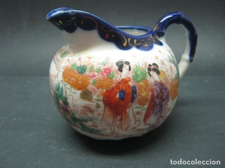 C. 1900 ANTIGUA LECHERA PERIODO MEIJI PORCELANA JAPON KUTANI ... SELLOS (Antigüedades - Porcelana y Cerámica - Japón)