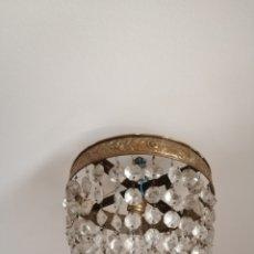 Antigüedades: LAMPARA DE TECHO DE CRISTAL. Lote 182615878