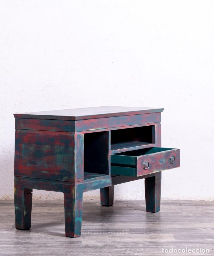 Antigüedades: Mueble Aparador Televisión Recuperado Ulisse - Foto 3 - 182619645