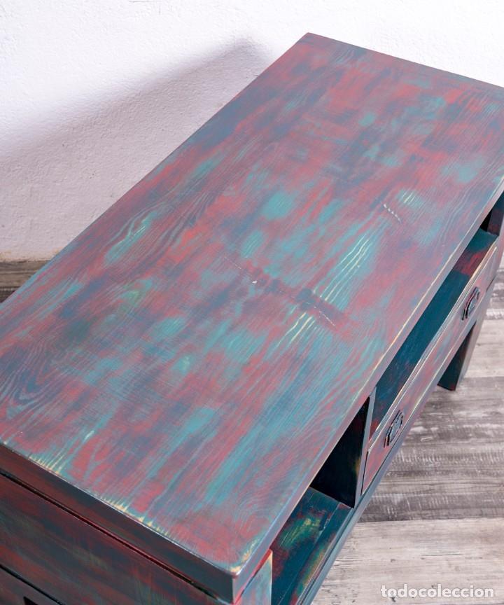 Antigüedades: Mueble Aparador Televisión Recuperado Ulisse - Foto 4 - 182619645