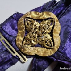 Antigüedades: .PRECIOSA HEBILLA MODERNISTA . BRONCE DORADO- REF-ZZ. Lote 182620040