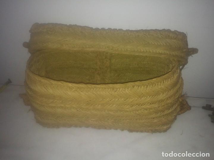 Antigüedades: Antigua cesta bolso de ESPARTO para fruta tienda agricultura ecológica hecha por espartero artesano - Foto 6 - 182621786
