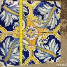 Antigüedades: AZULEJOS DEL CARDO SIGLO XVII. Lote 182623802