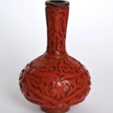 Antigüedades: BELLO VIOLETERO * FLORERO * JARRON ORIENTAL LACA DE CINABRIO * CINNABAR LACQUER. Lote 182626022