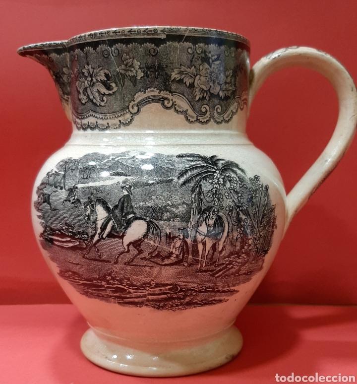 JARRA RARA DE LOZA DE CARTAGENA, SIGLO XIX. (Antigüedades - Porcelanas y Cerámicas - Cartagena)