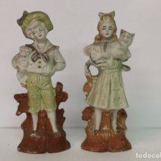 Antigüedades: 2 FIGURAS DE BISCUIT. Lote 182628006