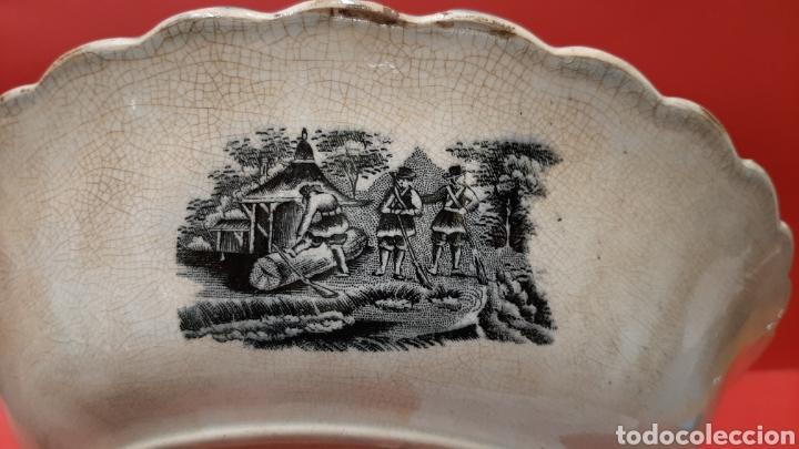 Antigüedades: ENSALADERA GALLONADA, CAPTURA DE POTROS SALVAJES, FABRICA LA AMISTAD DE CARTAGENA. - Foto 5 - 182629836