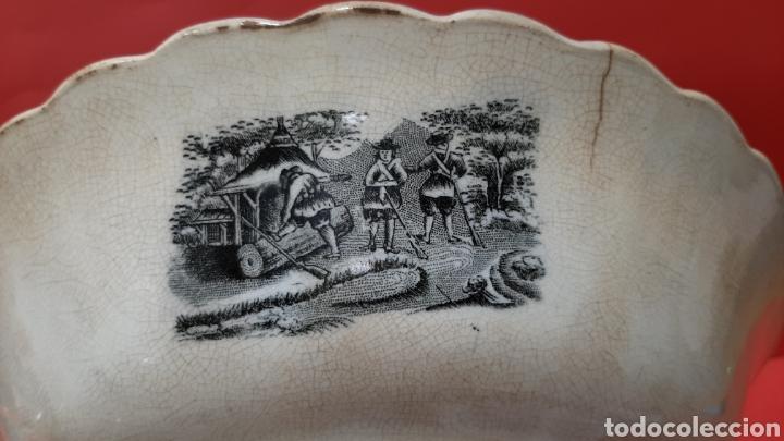 Antigüedades: ENSALADERA GALLONADA, CAPTURA DE POTROS SALVAJES, FABRICA LA AMISTAD DE CARTAGENA. - Foto 7 - 182629836