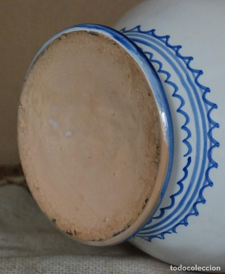 Antigüedades: JARRON ASAS CAJA RURAL DE TOLEDO CERAMICA TALAVERA 35CM - Foto 6 - 182640638