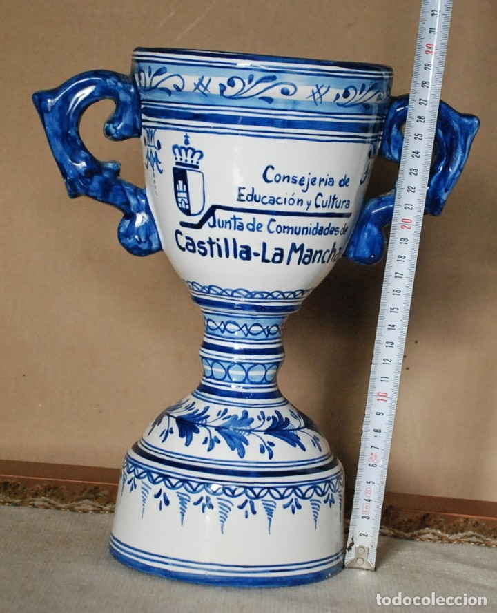 Antigüedades: JARRA CERAMICA TALAVERA - CONSERJERIA EDUCACION Y CULTURA - JUNTA COMUNIDADES DE CASTILLA LA MANCHA. - Foto 6 - 182641305