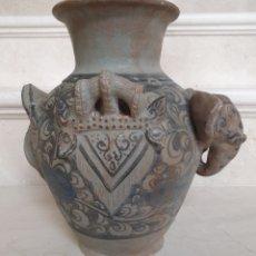 Antigüedades: DE COLECCION, MUY CURIOSO JARRON ORIENTAL VIDRIADO Y DECORADO ELEFANTE,CHINA S. XVII. Lote 182665932