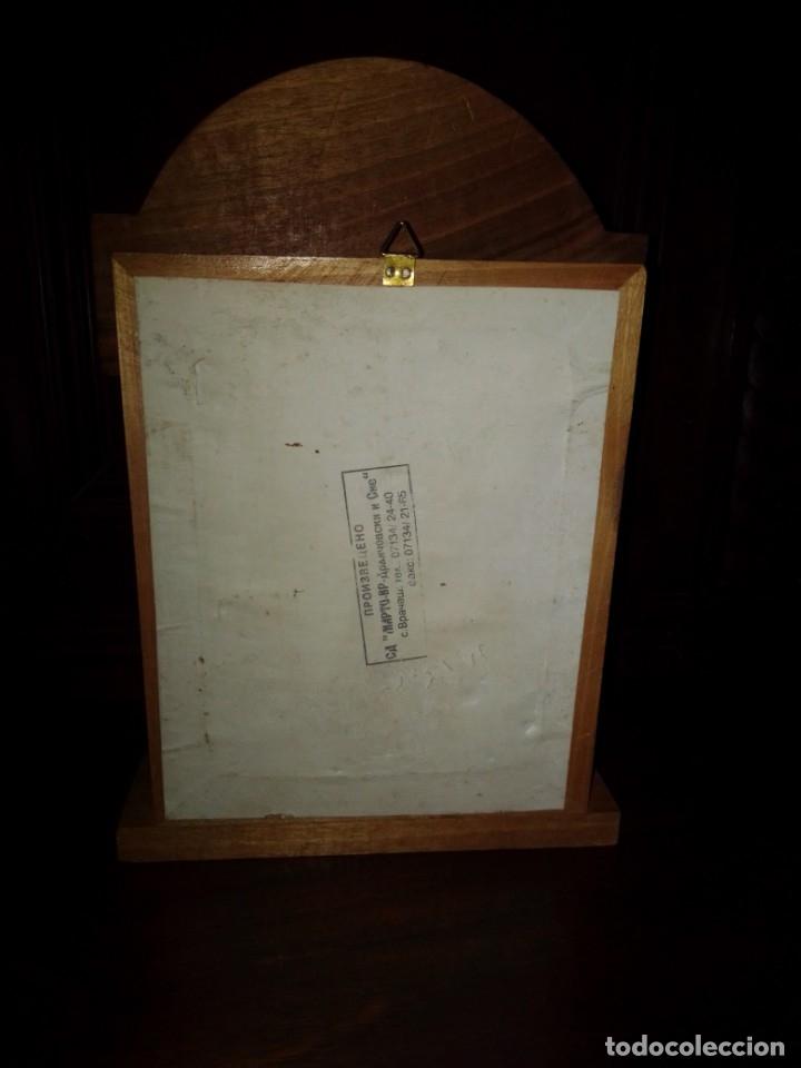 Antigüedades: Preciosa capilla de madera con icono - Foto 3 - 182673095