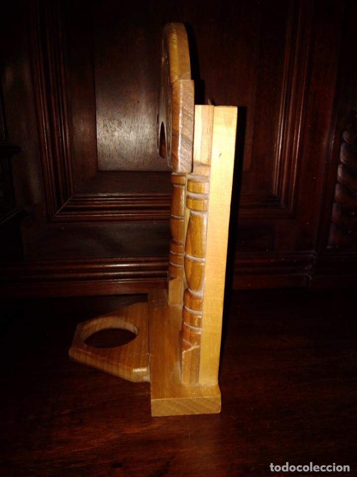 Antigüedades: Preciosa capilla de madera con icono - Foto 4 - 182673095