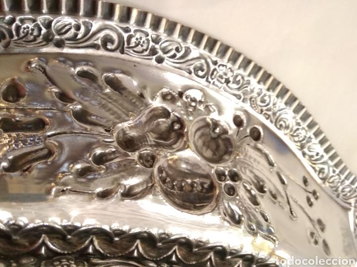 Antigüedades: Panera bandeja plateada - Foto 5 - 182673220