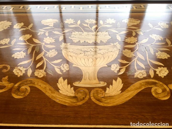 Antigüedades: Panel de marquetería (excelente trabajo de ebanista) - Foto 2 - 182673803