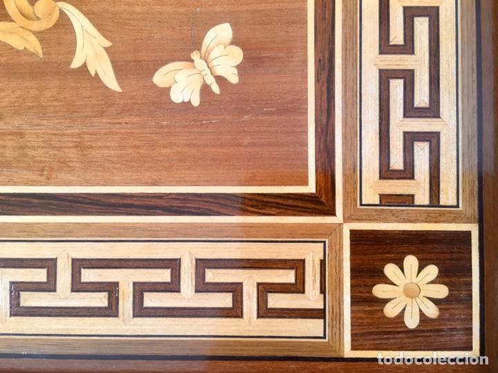 Antigüedades: Panel de marquetería (excelente trabajo de ebanista) - Foto 4 - 182673803
