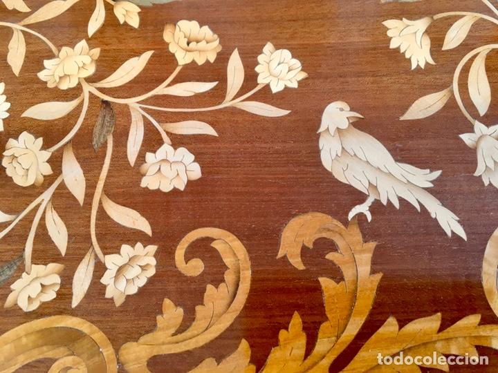 Antigüedades: Panel de marquetería (excelente trabajo de ebanista) - Foto 6 - 182673803