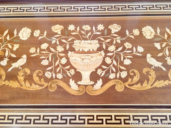 Antigüedades: Panel de marquetería (excelente trabajo de ebanista) - Foto 7 - 182673803