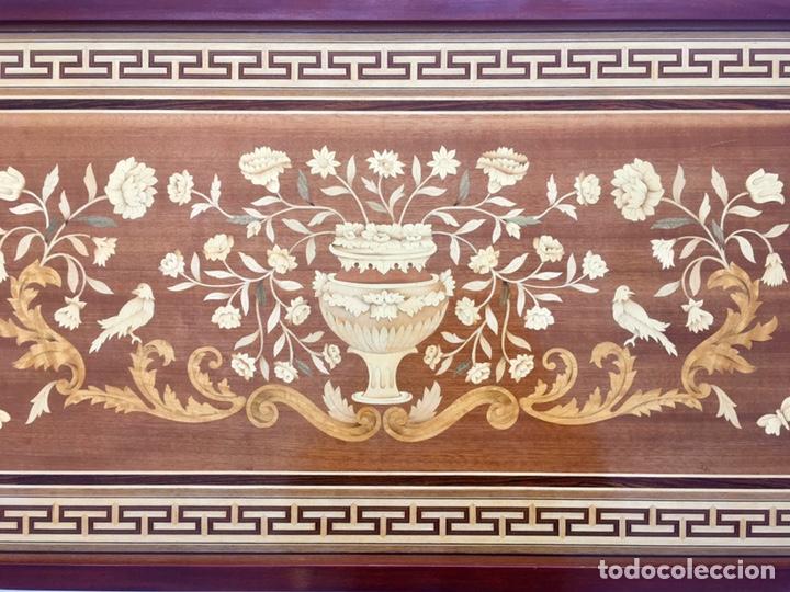 Antigüedades: Panel de marquetería (excelente trabajo de ebanista) - Foto 8 - 182673803