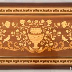 Antigüedades: CABECERO DE MARQUETERÍA (EXCELENTE TRABAJO DE EBANISTA). Lote 182673803