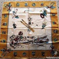Oggetti Antichi: ANTIGUO PAÑUELO TIPO SEDA - SOUVENIR - TEMATICA ALPINISTA - MOTAÑA - ALPINISMO - NUEVO. Lote 182693757