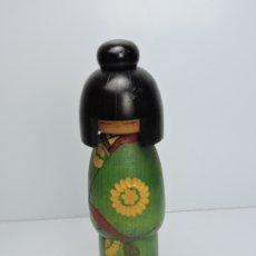 Antigüedades: FIGURA JAPONESA MADERA TALLADA. Lote 182696783