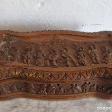 Antigüedades: CAJA JOYERO EN MADERA TALLADA. Lote 182715860