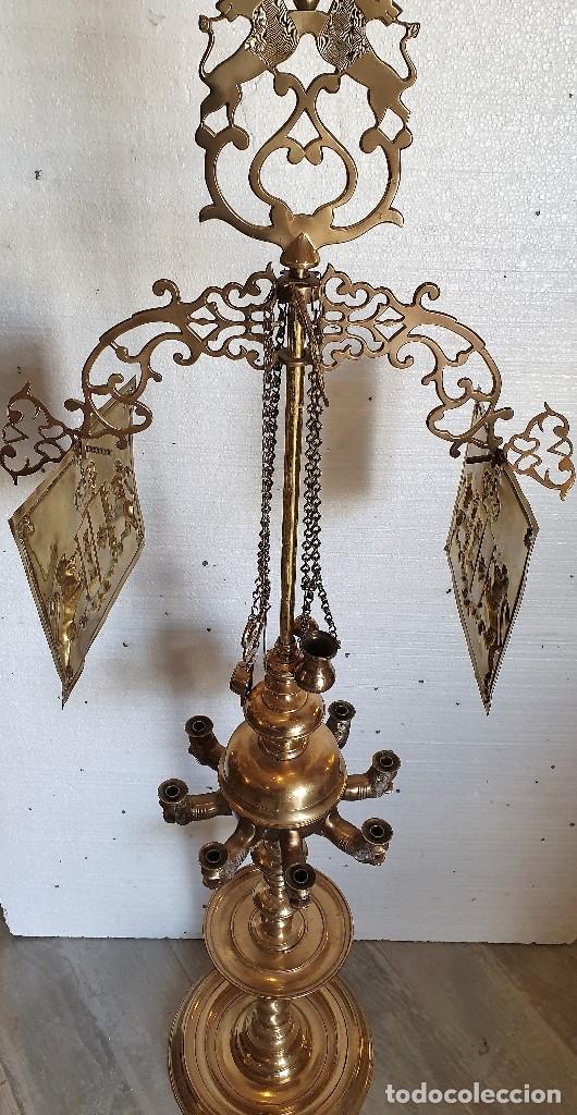 Antigüedades: GRAN LAMPARA DE ACEITE 150 CM - Foto 2 - 182719475