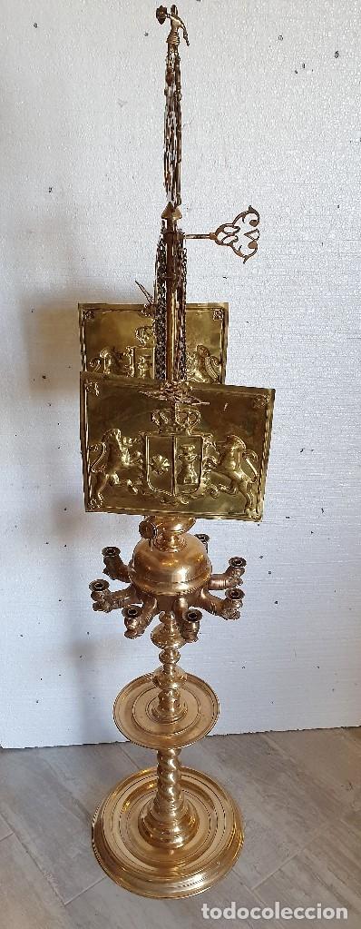 Antigüedades: GRAN LAMPARA DE ACEITE 150 CM - Foto 3 - 182719475
