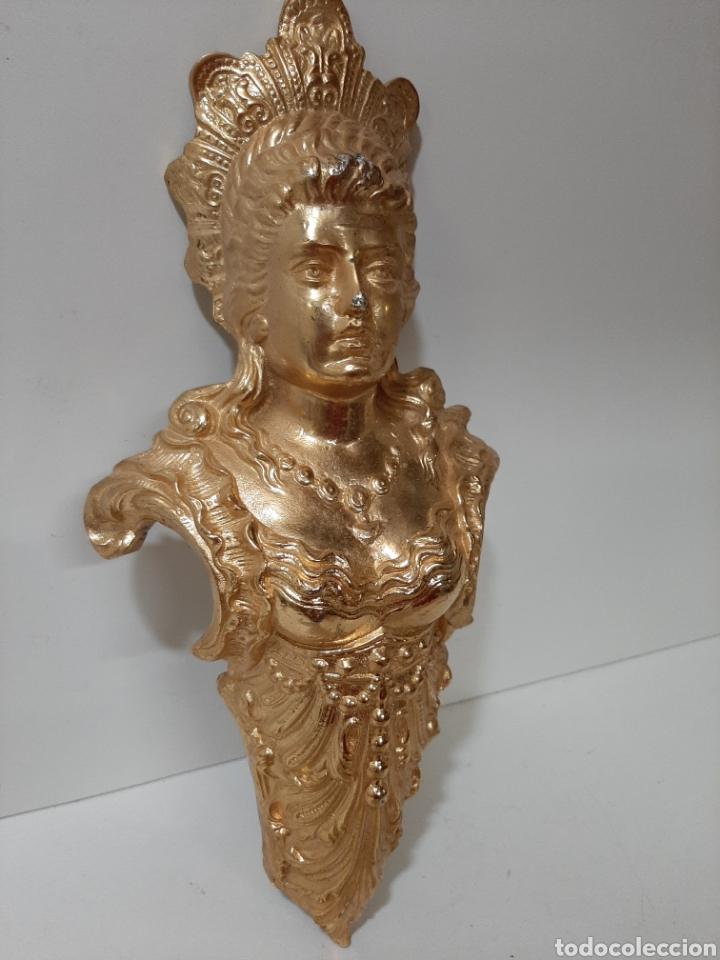 Antigüedades: Bonito y antiguo mascarón de bronce, escultura, figura. Pieza rara y grande. - Foto 2 - 182720866
