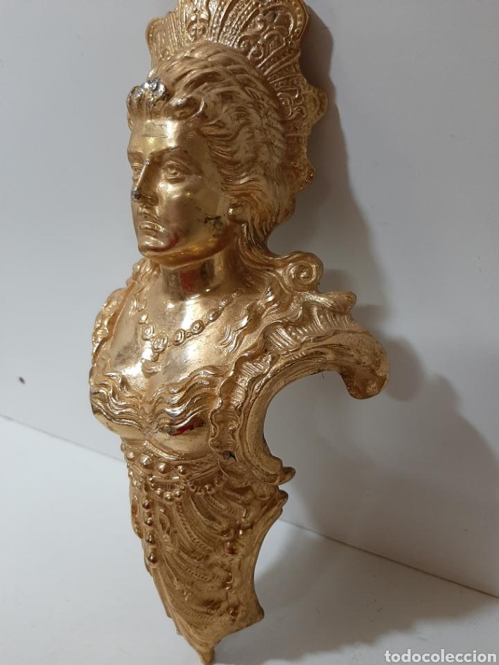 Antigüedades: Bonito y antiguo mascarón de bronce, escultura, figura. Pieza rara y grande. - Foto 3 - 182720866
