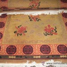 Antigüedades: ALFOMBRA CHINA. HECHA A MANO.. Lote 182737737